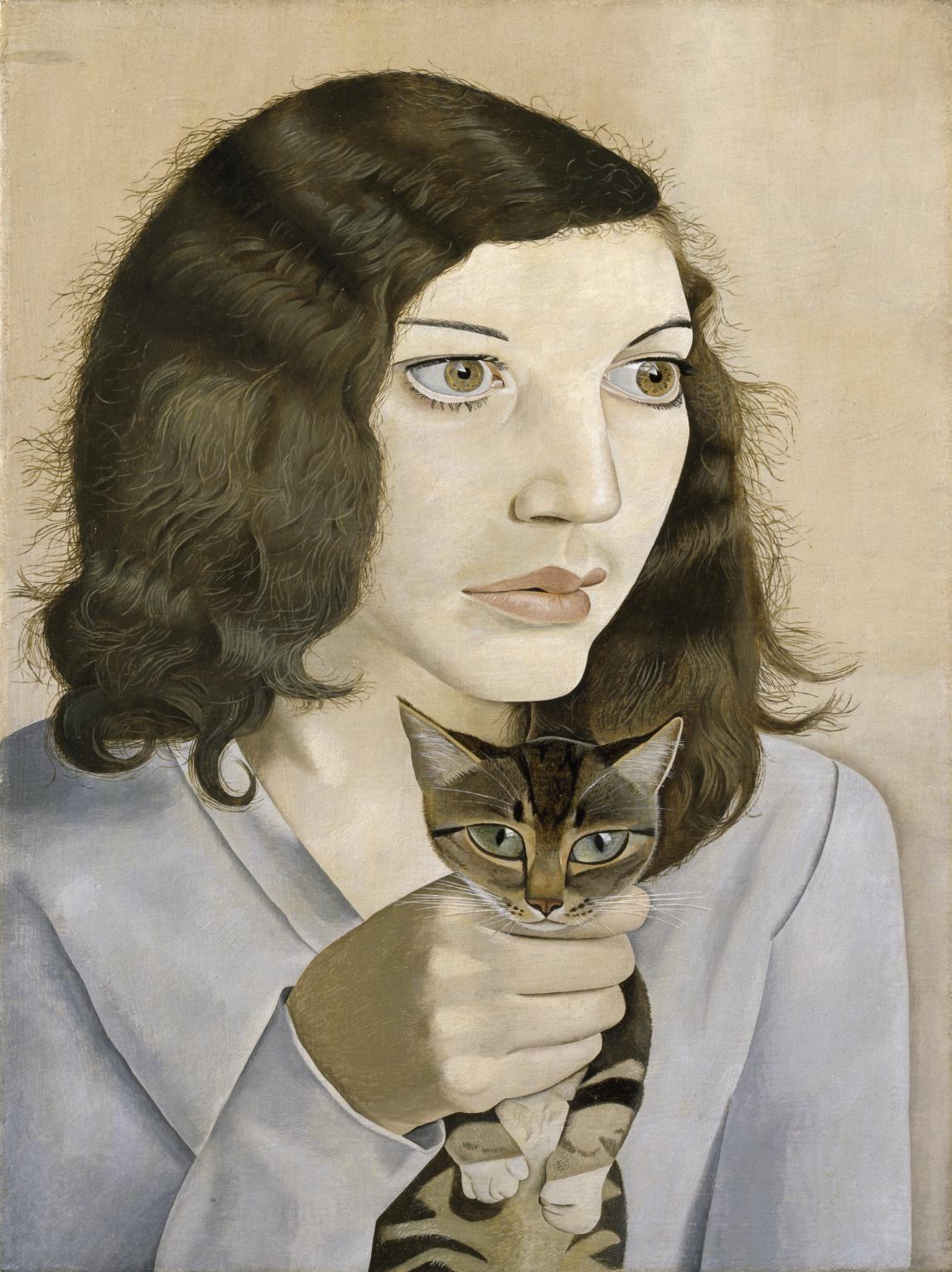 Фрейд Девушка с котенком 1947 © Tate © The Lucian Freud Archive Bridgeman Images.